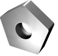 Пластина PNUA - 110408 Т15К6 (Н10) пятигранная dвн=6мм (10113) гладкая