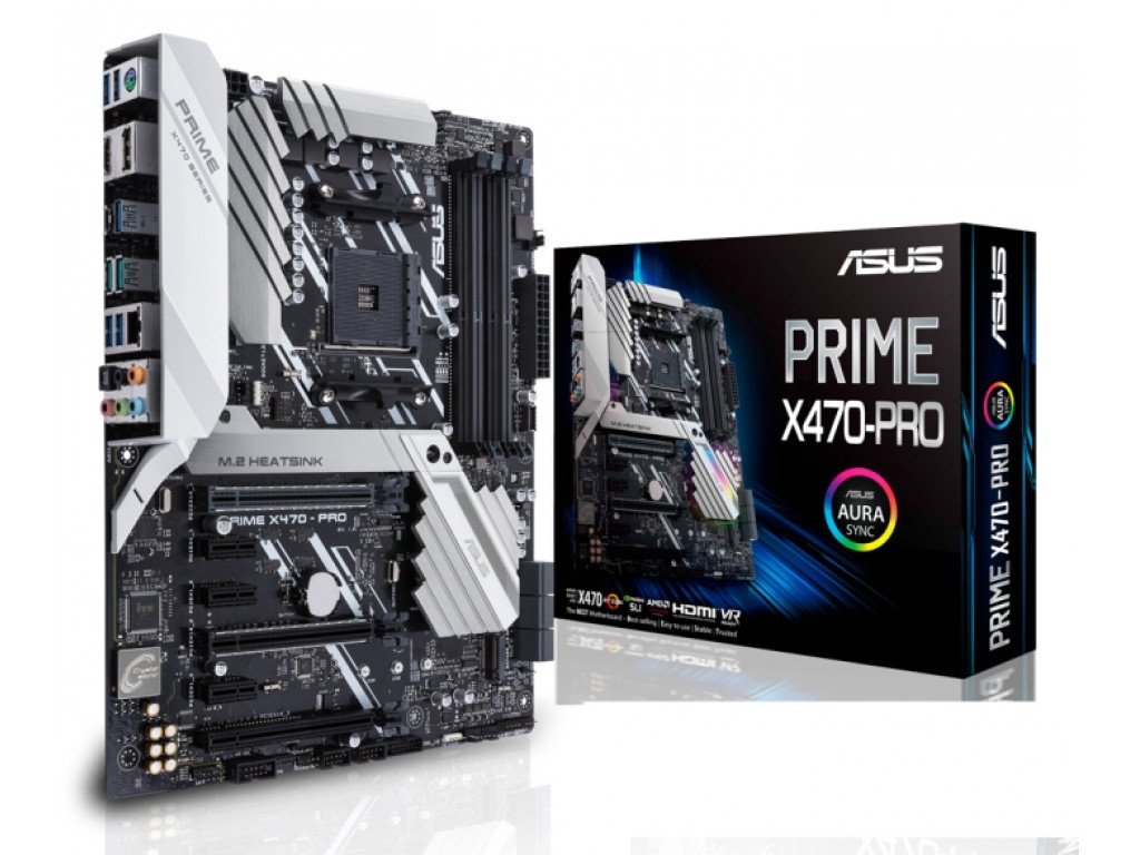 "Материнская плата Asus PRIME X470-PRO Socket AM4 DDR4 ""Over-Stock"" Б/У"