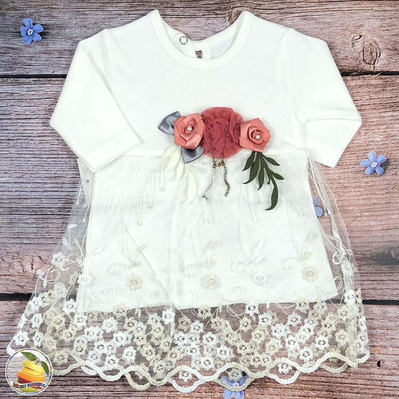 Платье для малыша Размеры: 6,9,12 месяцев (8944-1)