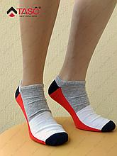 Носки мужские Taso 107 укороченные из хлопка Красный с меланжевым, 29 / XL / 44-46