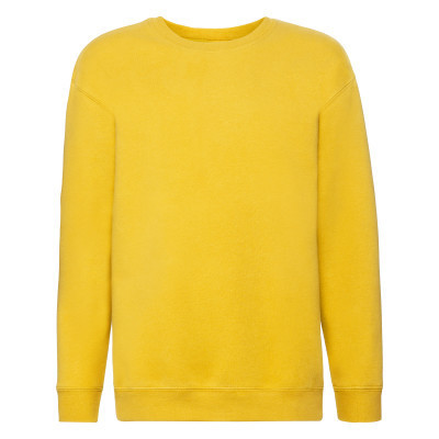 Яркий подростковый свитшот на флисе под принт желтый