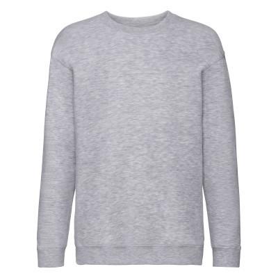 Серый однотонный детский свитшот зима-осень под принт