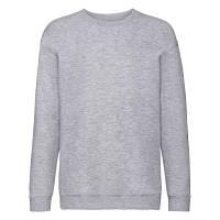 Серый однотонный детский свитшот зима-осень под принт, фото 1