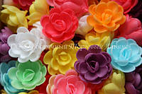 Вафельные цветы «Розы малые сложные микс» 80 шт
