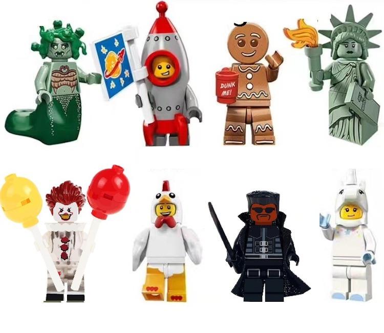 Горгона Медуза,ракета,Пряник,Статуя Свободы,Единорог,Блейд Лего Lego