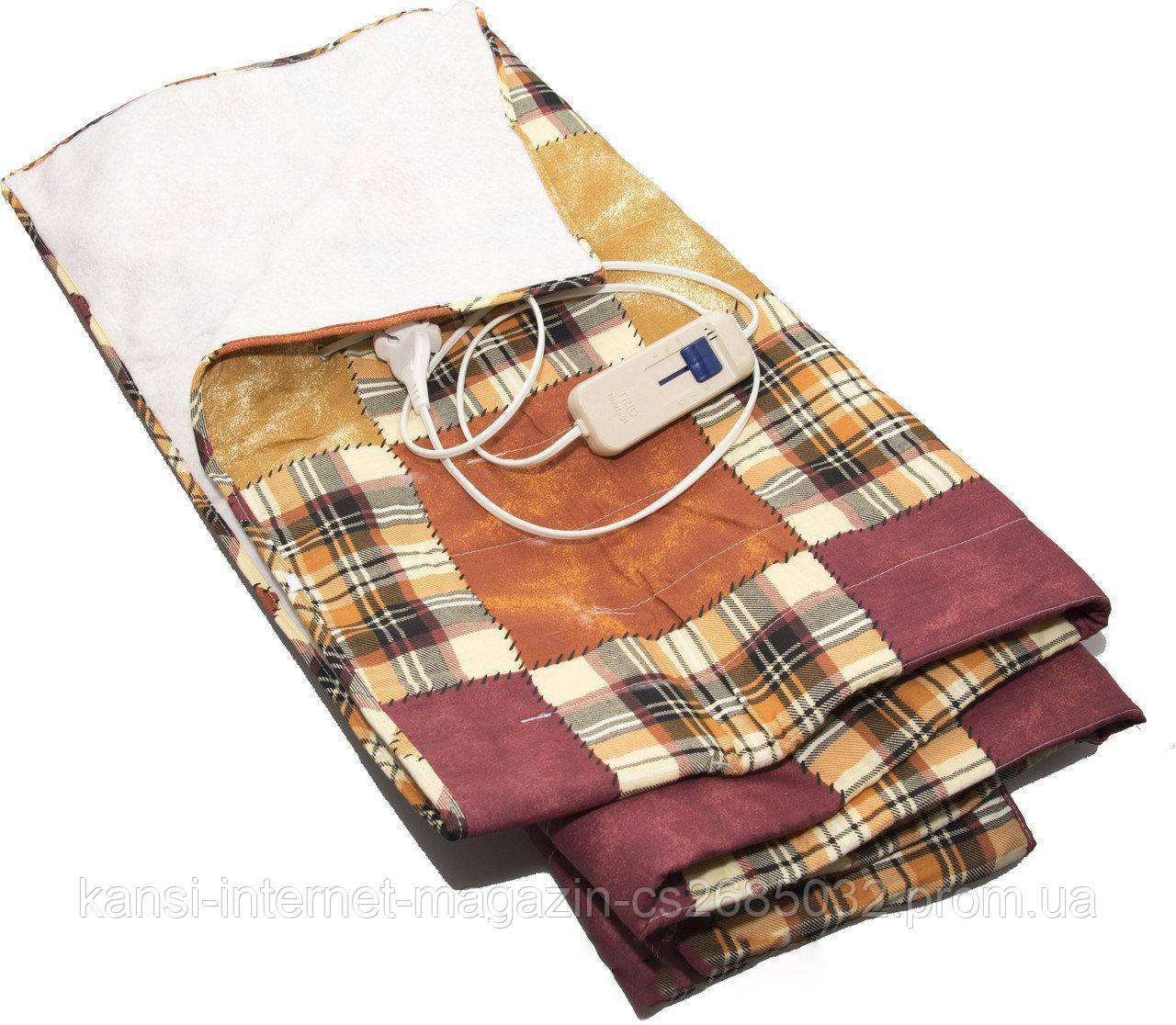 Электропростынь electric blanket 150*170 двуспальная, одеяло с подогревом