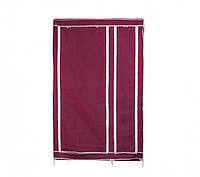 Портативный  шкаф-органайзер 2 секции бордовый (HT250)