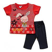 """Летний костюм """"Кролик"""" для девочки. 1 год"""