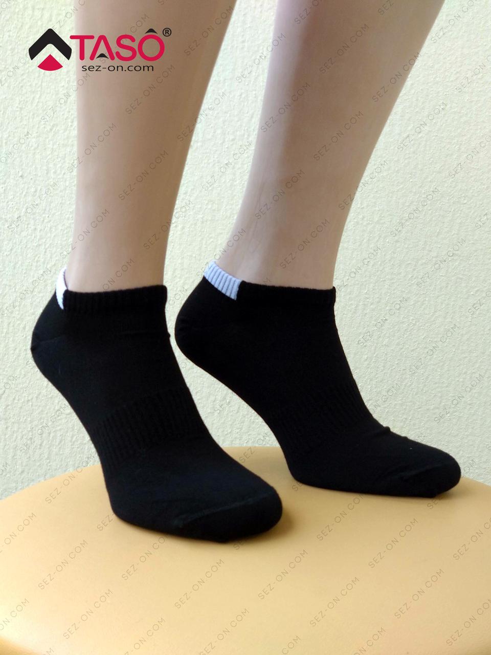 Носки мужские бамбуковые Taso с удобной резинкой, цвет Черный, размер 25