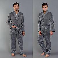 Чоловіча атласна піжама-костюм  .Р-ри  48-52, фото 1