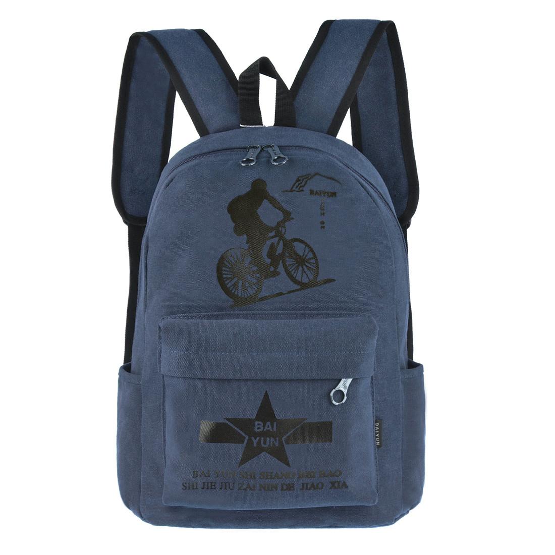Рюкзак молодёжный BAIYUN  43х31x17 брезент ксВУ135син