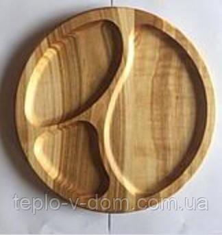 Деревянная менажница, доска для подачи, доска разделочная 30 см.