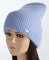 Удлиненная шапка с отворотом Карен гиацинт