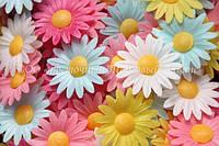 Вафельные цветы «Маргаритки микс» 200 шт