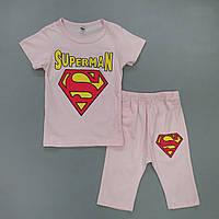 Летний костюм Superman для девочки. 120 см