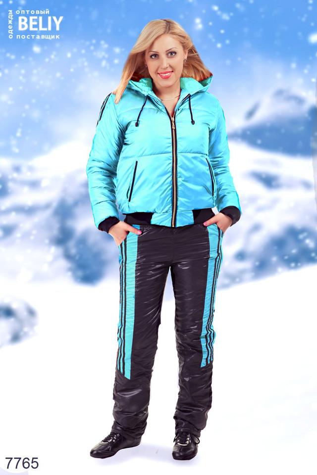Ментоловый зимний женский костюм