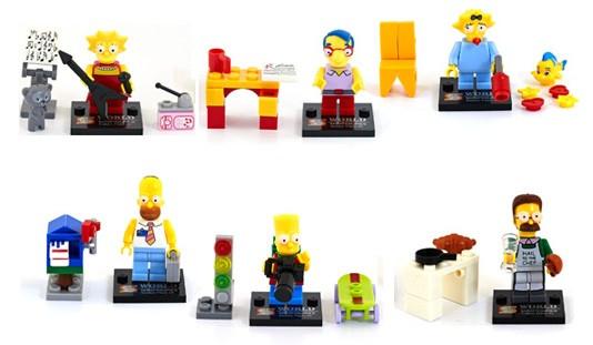 Фигурки Симпсоны The Simpsons Гомер Симпсон Барт Мардж Лиза Апу Нед Фландерс лего Lego