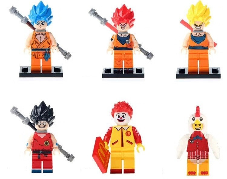 Жемчуг дракона Dragon Ball лего Lego Рональд Макдональд петух