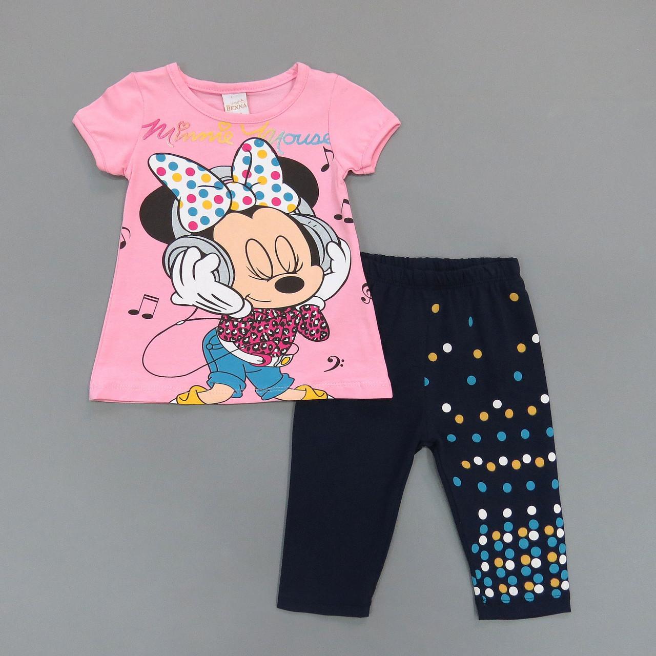 Летний костюм Minnie Mouse для девочки. Маломерит. 98, 104 см