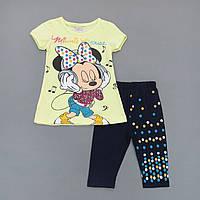 Летний костюм Minnie Mouse для девочки. Маломерит. 104 см