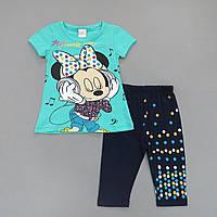 Летний костюм Minnie Mouse для девочки. Маломерит. 98 см