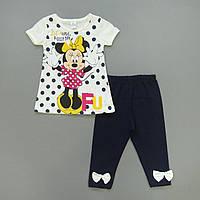 Летний костюм Minnie Mouse для девочки. Маломерит. 98, 116 см