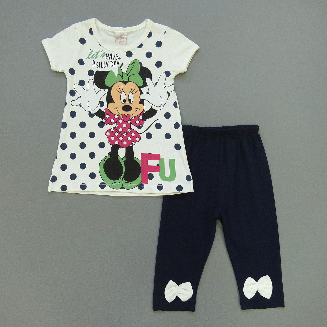 Летний костюм Minnie Mouse для девочки. 98 см