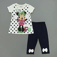Летний костюм Minnie Mouse для девочки. 98, 104 см