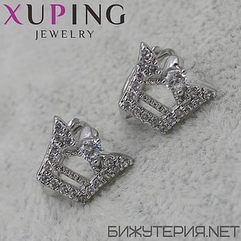 Серьги Xuping медицинское золото Silver - 1029961366