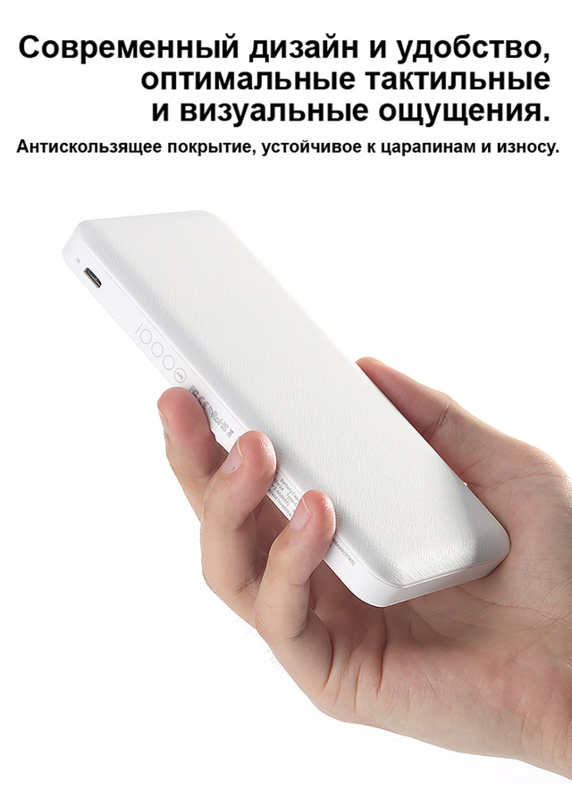 Power bank (Внешний аккумулятор) Rock 10000mAh P45