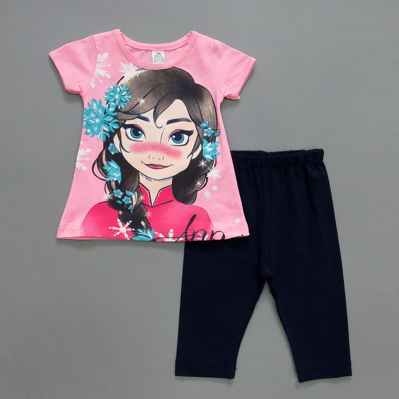"Летний костюм ""Анна"" для девочки. 1, 2, 3, 4 года"