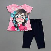 """Летний костюм """"Анна"""" для девочки. Маломерит. 3, 4, 5, 6 лет"""