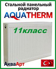 Стальные панельные радиаторы Aquaterm боковое подключение 11 класс