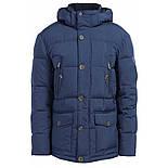 Мужской зимний пуховик c боковыми карманами темно-синий Finn Flare W17-22012-101, фото 4