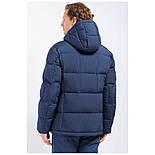 Мужской зимний пуховик c боковыми карманами темно-синий Finn Flare W17-22012-101, фото 5