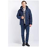 Мужской зимний пуховик c боковыми карманами темно-синий Finn Flare W17-22012-101, фото 3