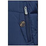 Мужской зимний пуховик c боковыми карманами темно-синий Finn Flare W17-22012-101, фото 7
