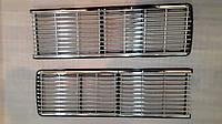 Решетка радиатора ВАЗ 2106 закрытые фары хром полосы
