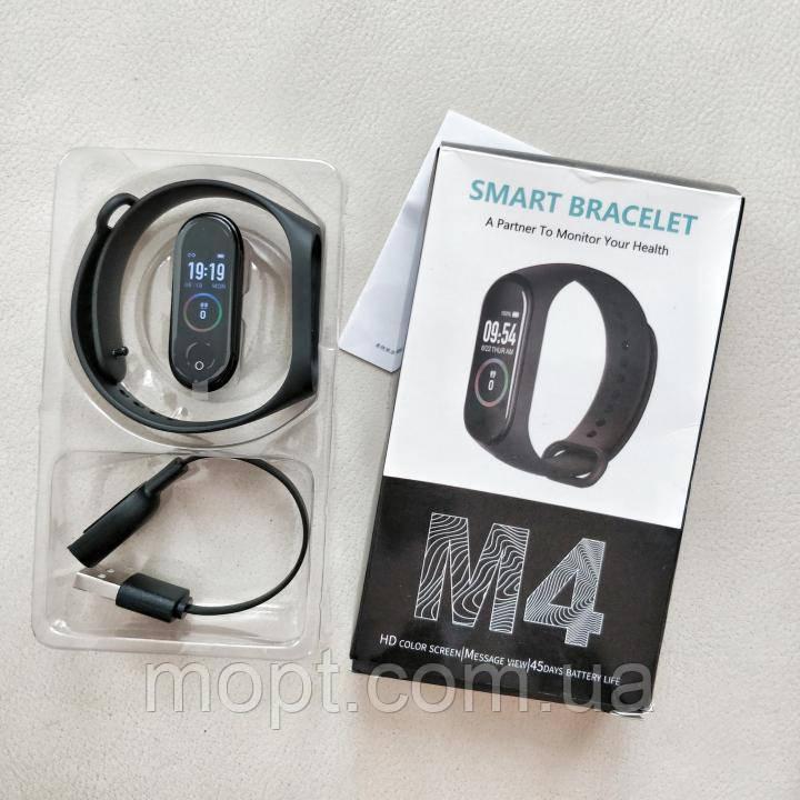 Фитнес трекер браслет MI Band М4 -аналог фитнес трекера Xiaomi Mi Band 4 пр-ва Китай
