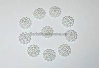 Полубусина Жемчужный Цветок 14 мм белый
