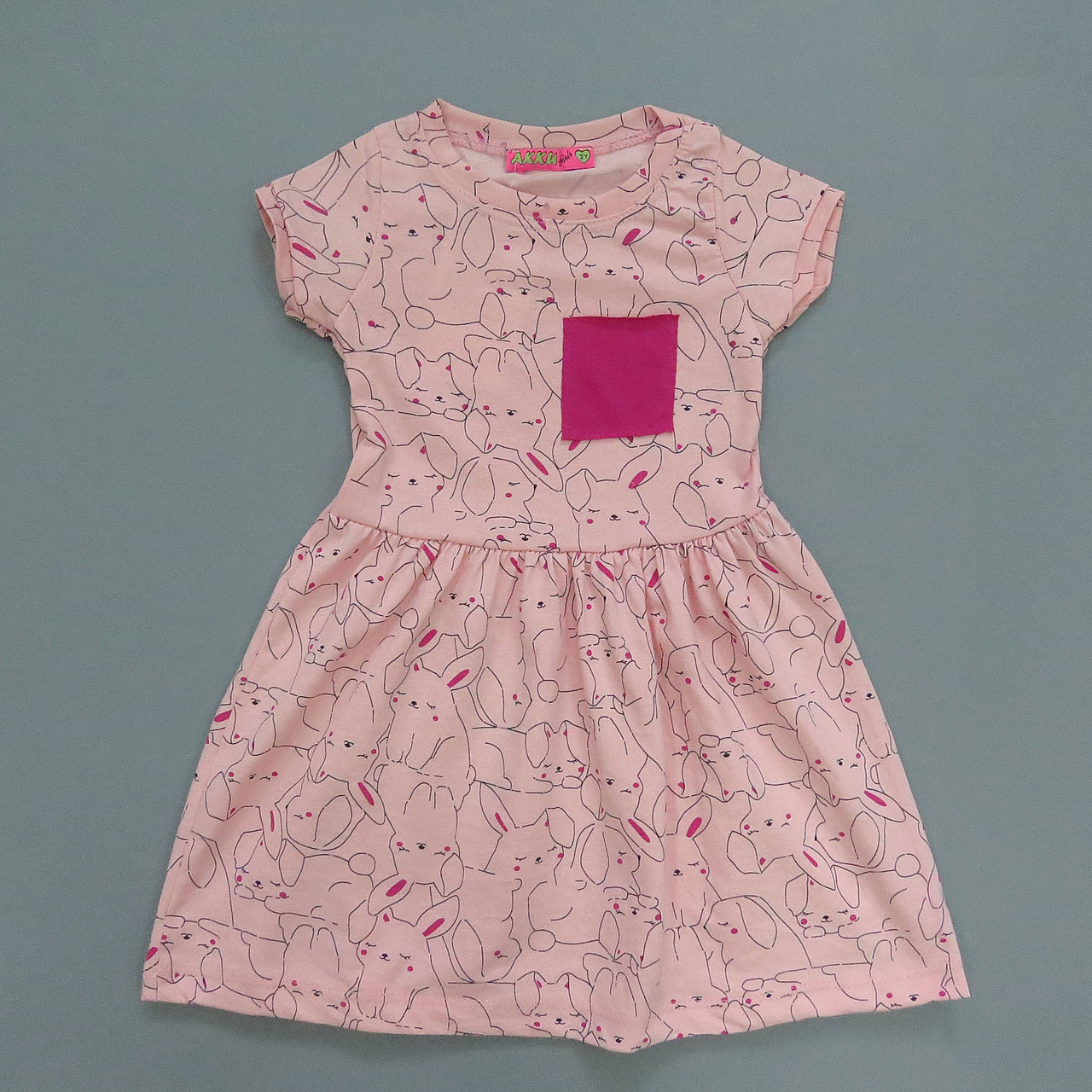 """Літнє плаття """"Кролики"""" для дівчинки. Маломерит. 2 роки"""