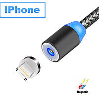 Магнитный кабель 360° USB 2.0 для зарядки для iPhone