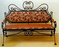 Кованый диван банкетка
