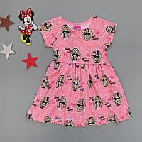 Летнее платье Barbie для девочки. Маломерит. 1, 3 года