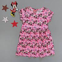 Летнее платье Minnie Mouse для девочки. Маломерит. 1, 2, 3, 4 года