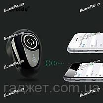 Гарнитура Bluetooth S650 черного цвета. Блютуз. Mini Bluetooth, фото 3