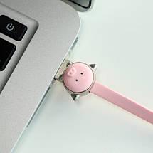 Кабель Lightning Rock Zodiac Pig для зарядки и передачи данных, плоский RCB0495 (Розовый, 1м), фото 2