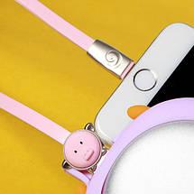 Кабель Lightning Rock Zodiac Pig для зарядки и передачи данных, плоский RCB0495 (Розовый, 1м), фото 3