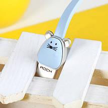 Кабель Lightning Rock Zodiac Mouse для зарядки и передачи данных, плоский RCB0501 (Голубой, 1м), фото 3