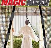 Антимоскитная шторка на магнитах Мagnetic Mesh Бежевая, фото 1